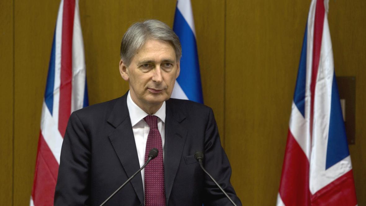 Britský ministr zahraničí Philip Hamond