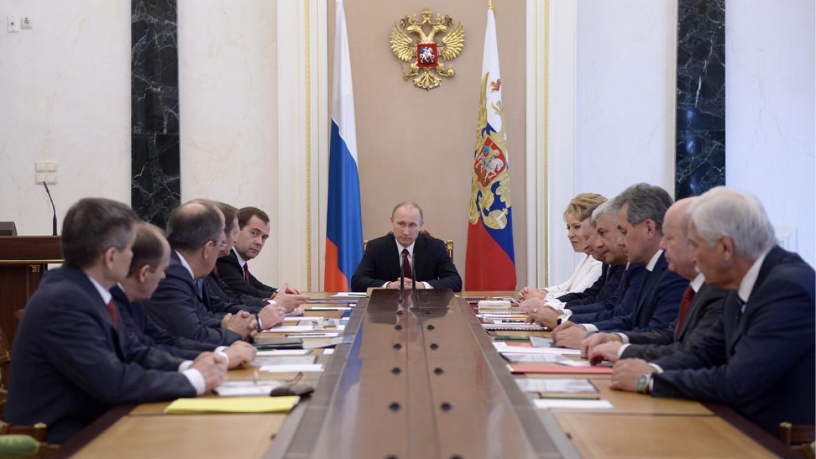 Zasedání bezpečnostní rady v Kremlu