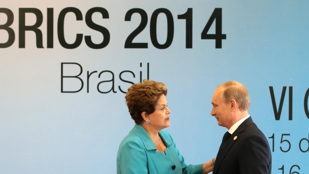 Brazilská prezidentka Dilma Rousseffová a ruský prezident Vladimir Putin