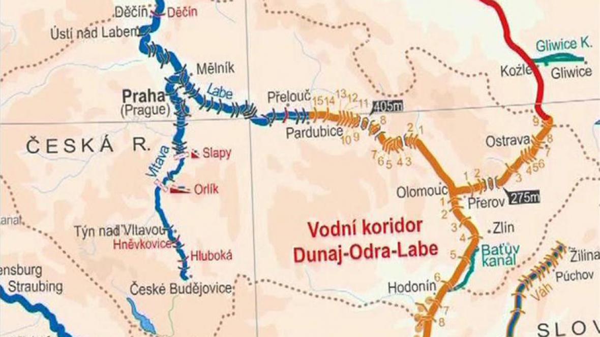 Studie průplavu Dunaj-Odra-Labe