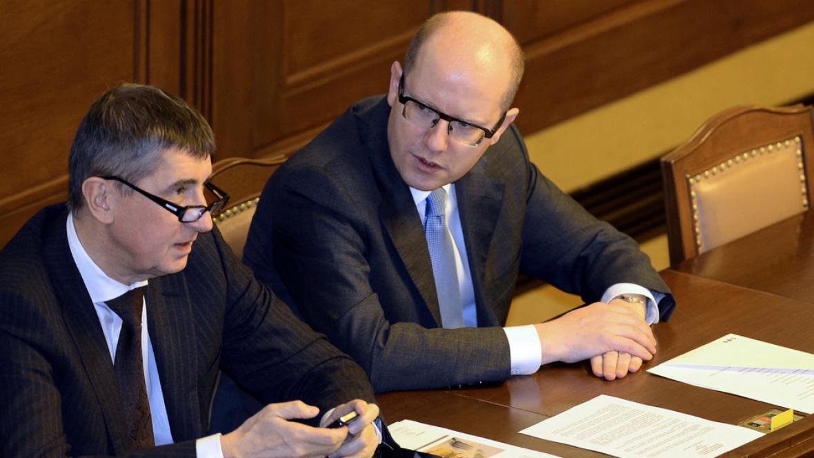 Andrej Babiš a Bohuslav Sobotka