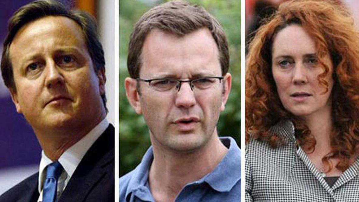 David Cameron, Andrew Coulson, Rebekah Brooksová