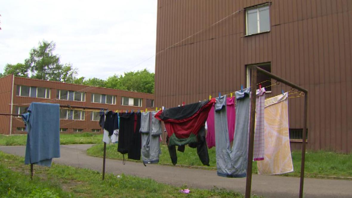 Ubytovny v táboře Červený Újezd