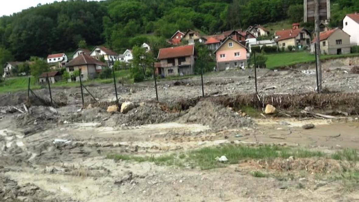 Obec Krupaň po ničivé povodni