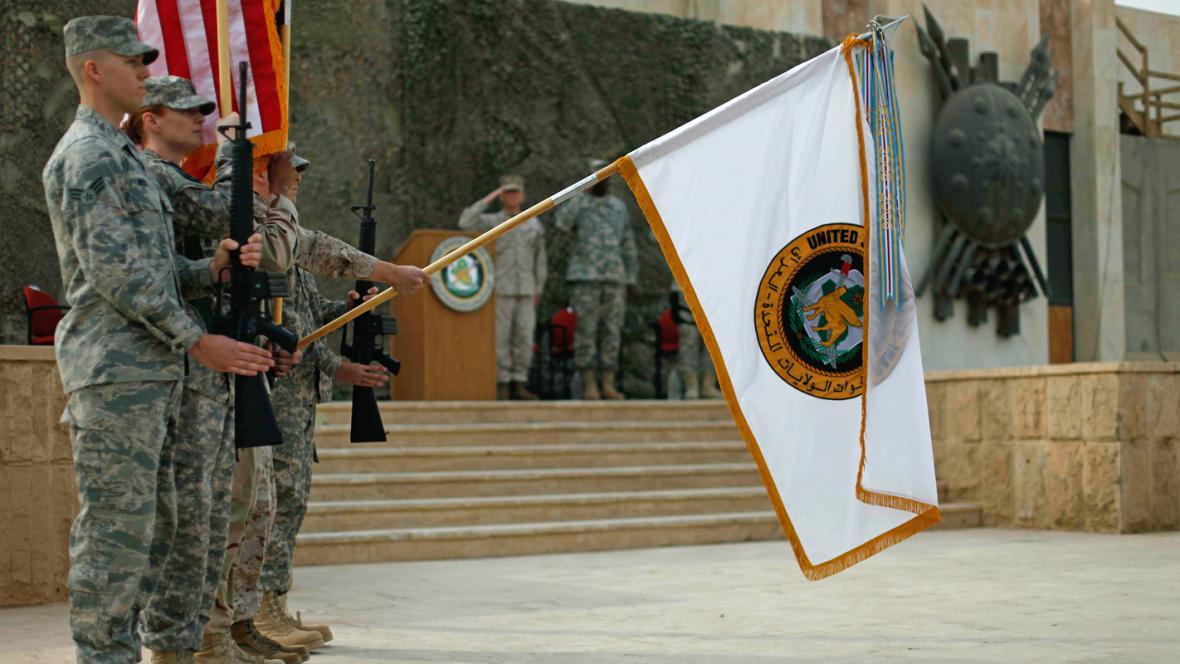Slavnostní ukončení americké vojenské mise v Iráku