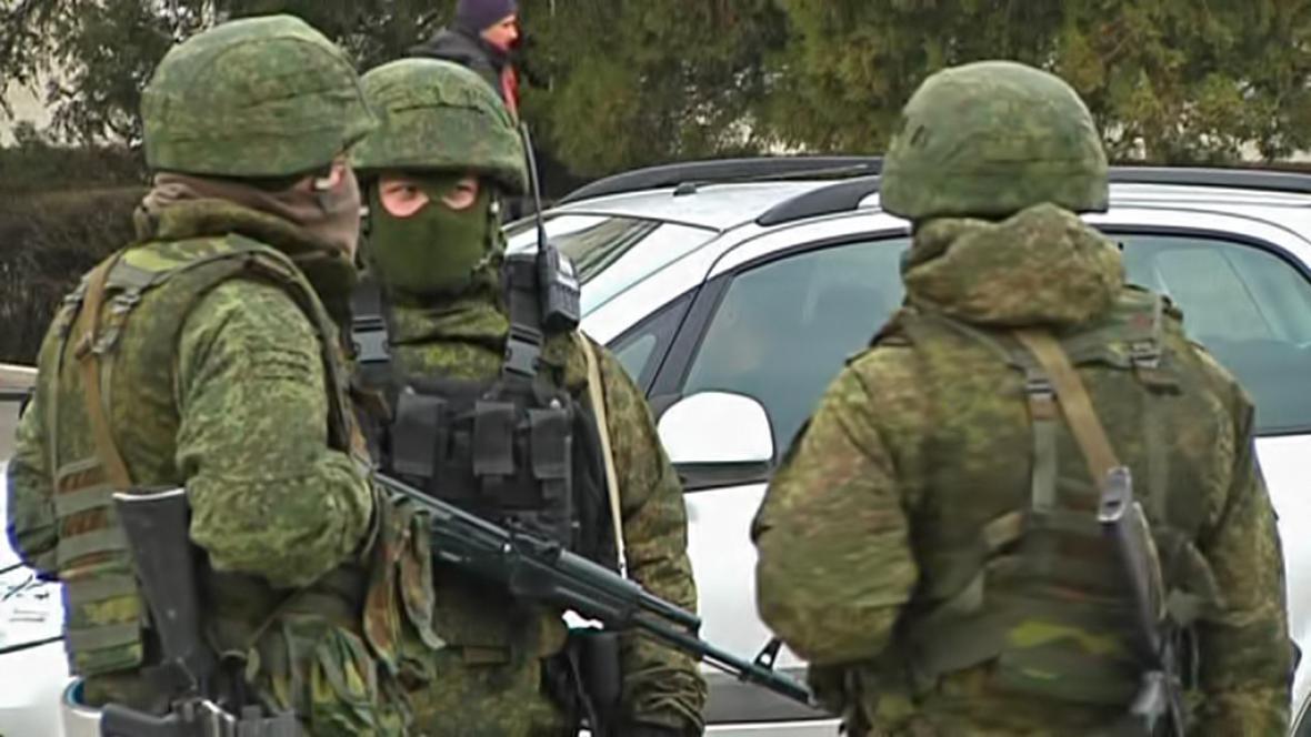 Ruští vojáci na Krymu