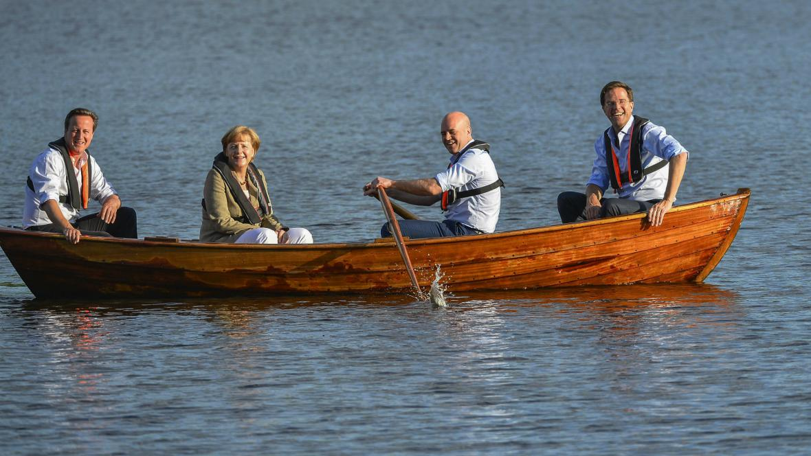 Cameron, Merkelová, Reinfeldt a Rutte se sešli ve Švédsku