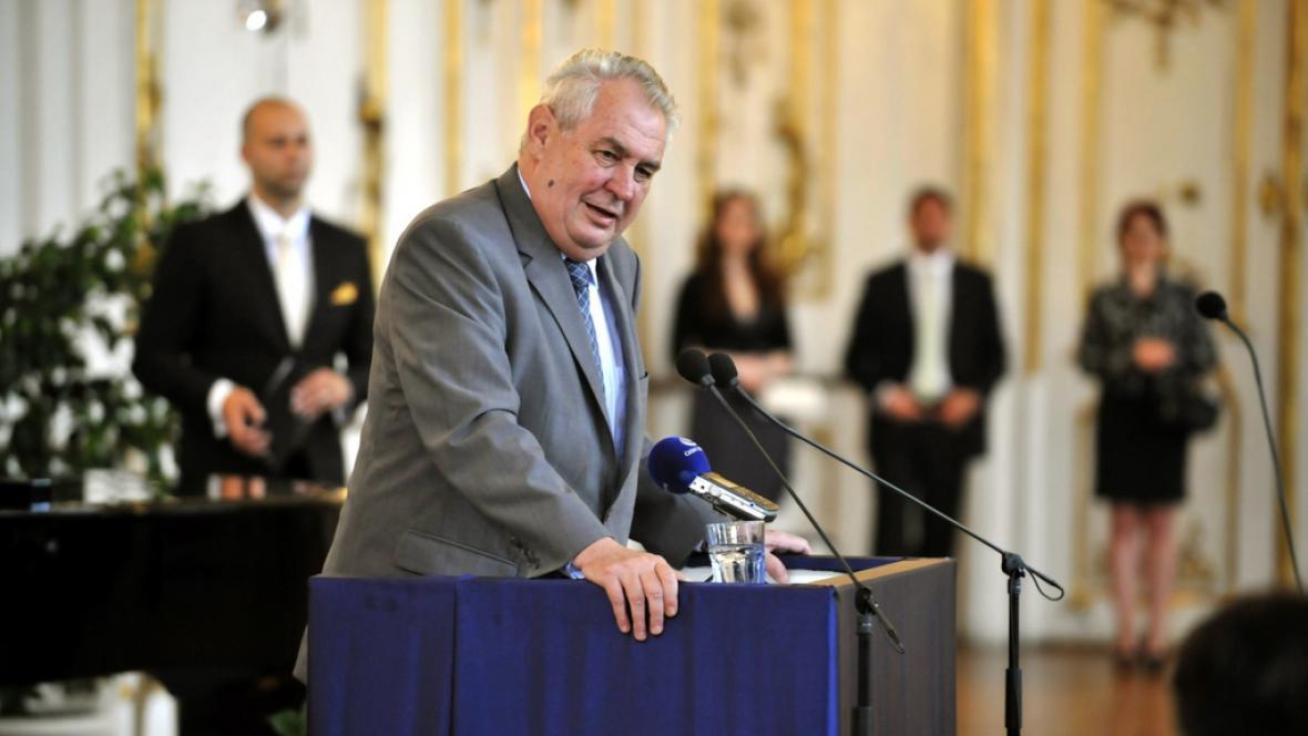 Miloš Zeman při oslavách výročí státního zastupitelství