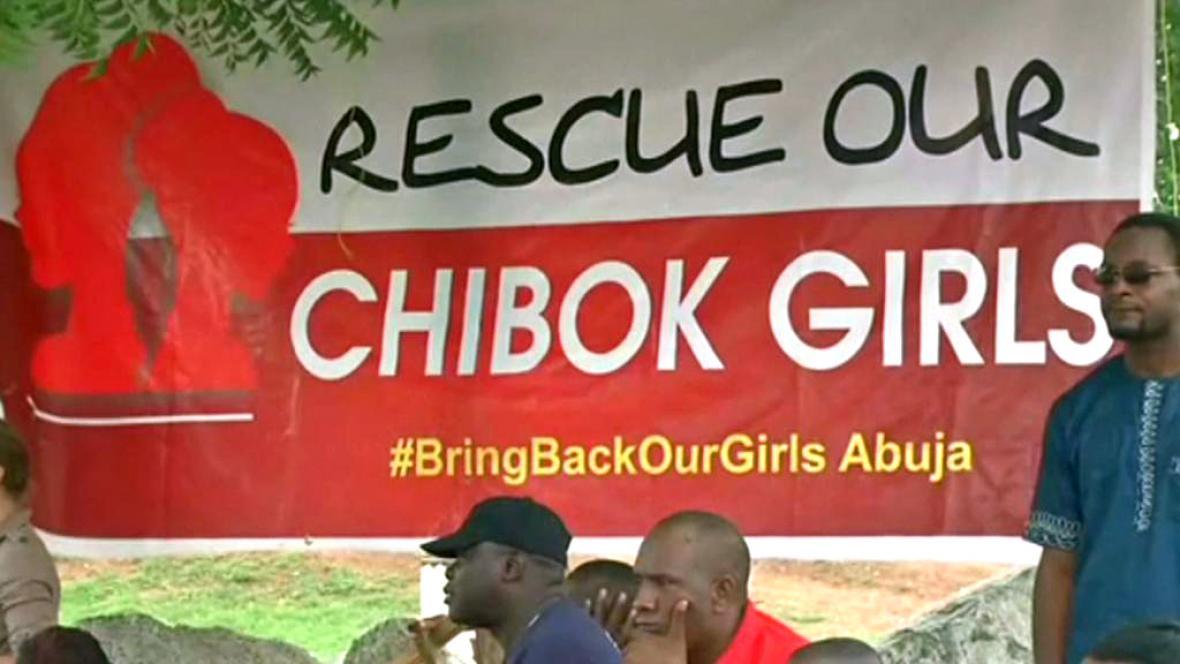 Demonstrace za osvobozeni nigerijských školaček