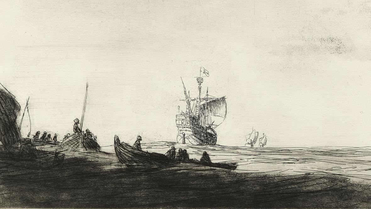 Vyplutí Kryštofa Kolumba v roce 1492