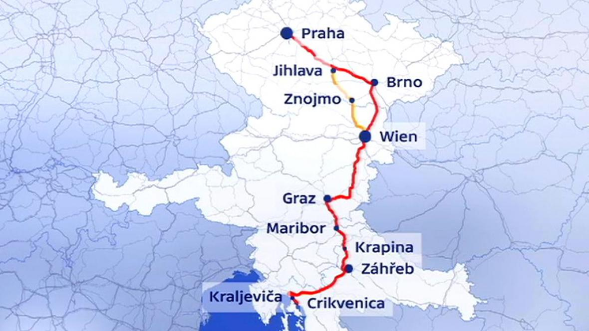 Cesta z Prahy do Chorvatska