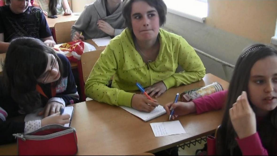 Žáci při projektovém dnu na téma Afrika