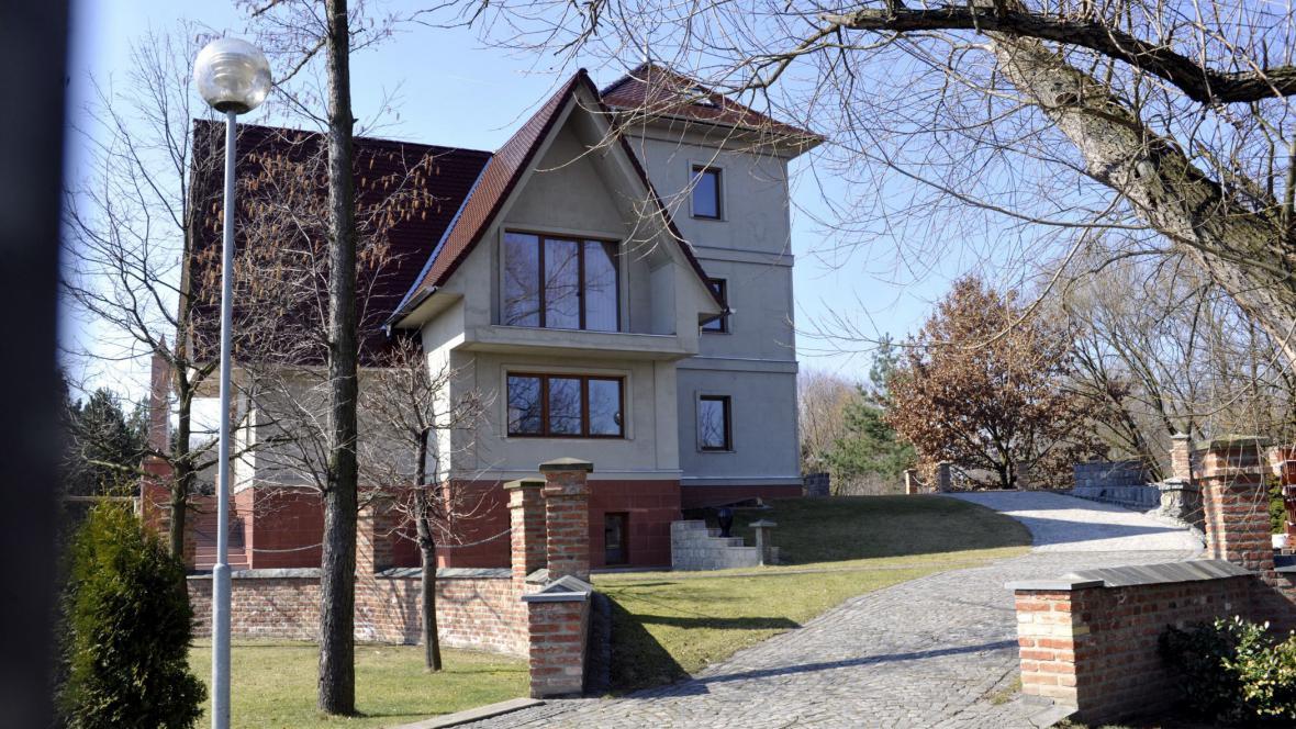 Vila pardubického podnikatele Miloše Holečka
