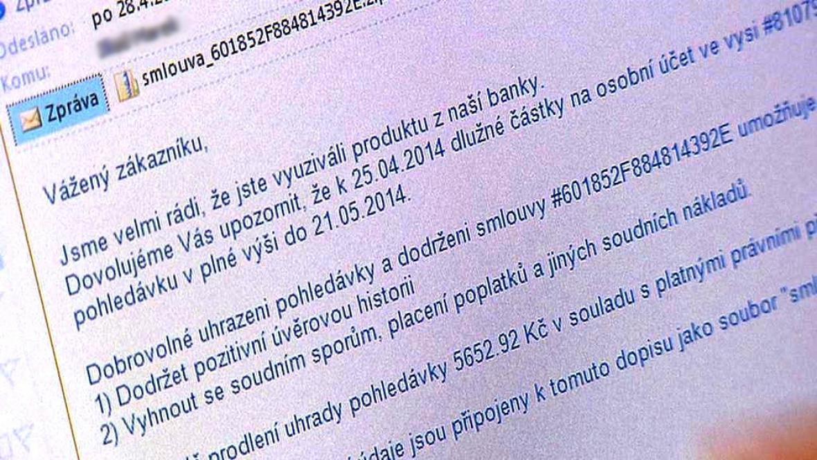 Podvodný e-mail s virem v příloze