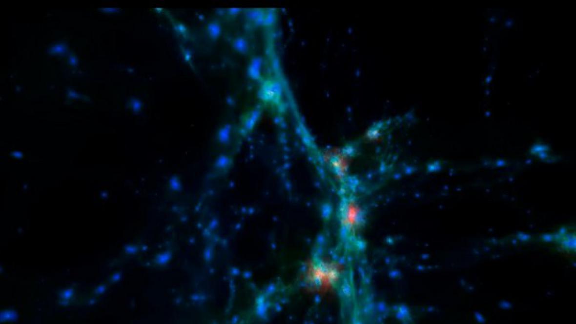 Animace vývoje vesmíru