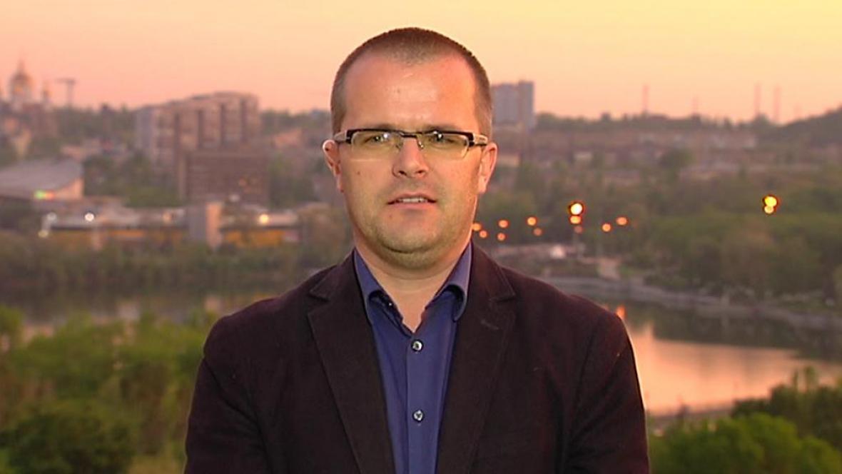 Zpravodaj ČT v Doněcku Josef Pazderka
