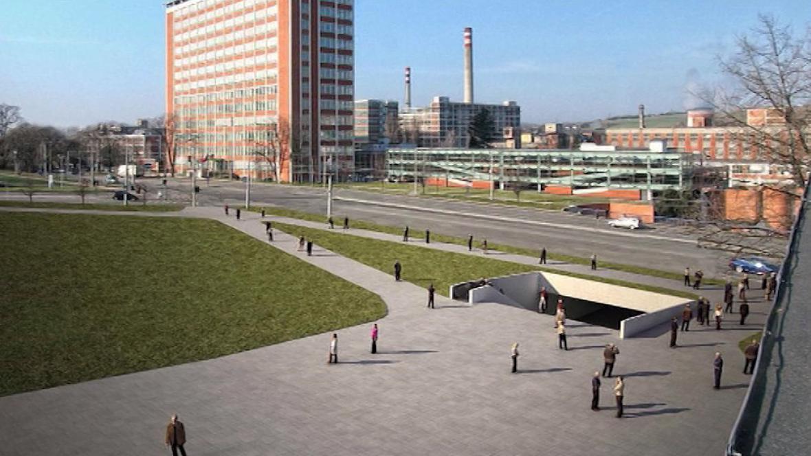 Vizualizace podchodu ve Zlíně po rekonstrukci