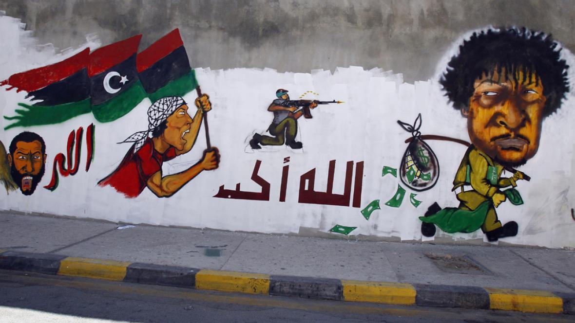 Kaddáfí na útěku