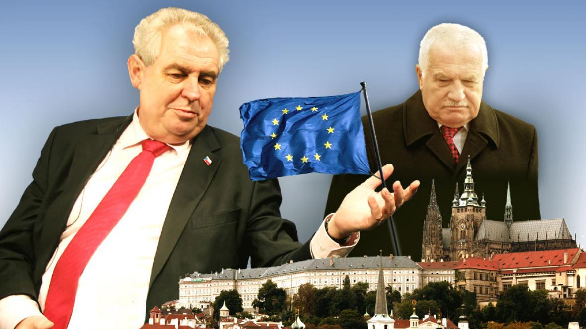 Vztyčování vlajky na Pražském hradě