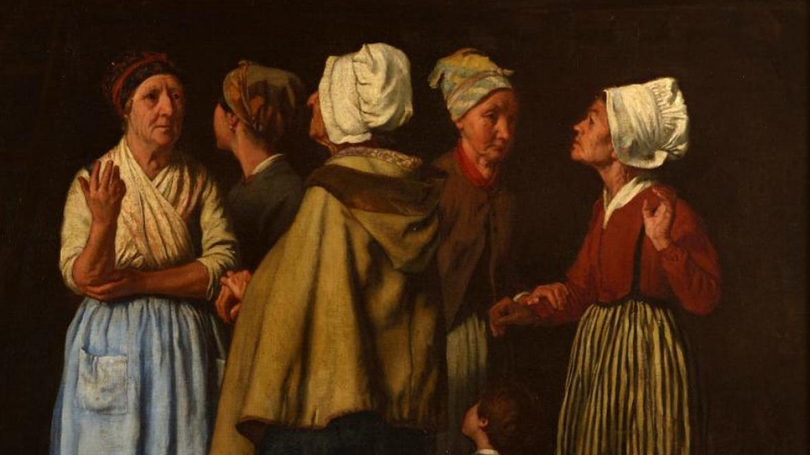 Soběslav Pinkas / Modlitba za oběšence (výřez), 1861
