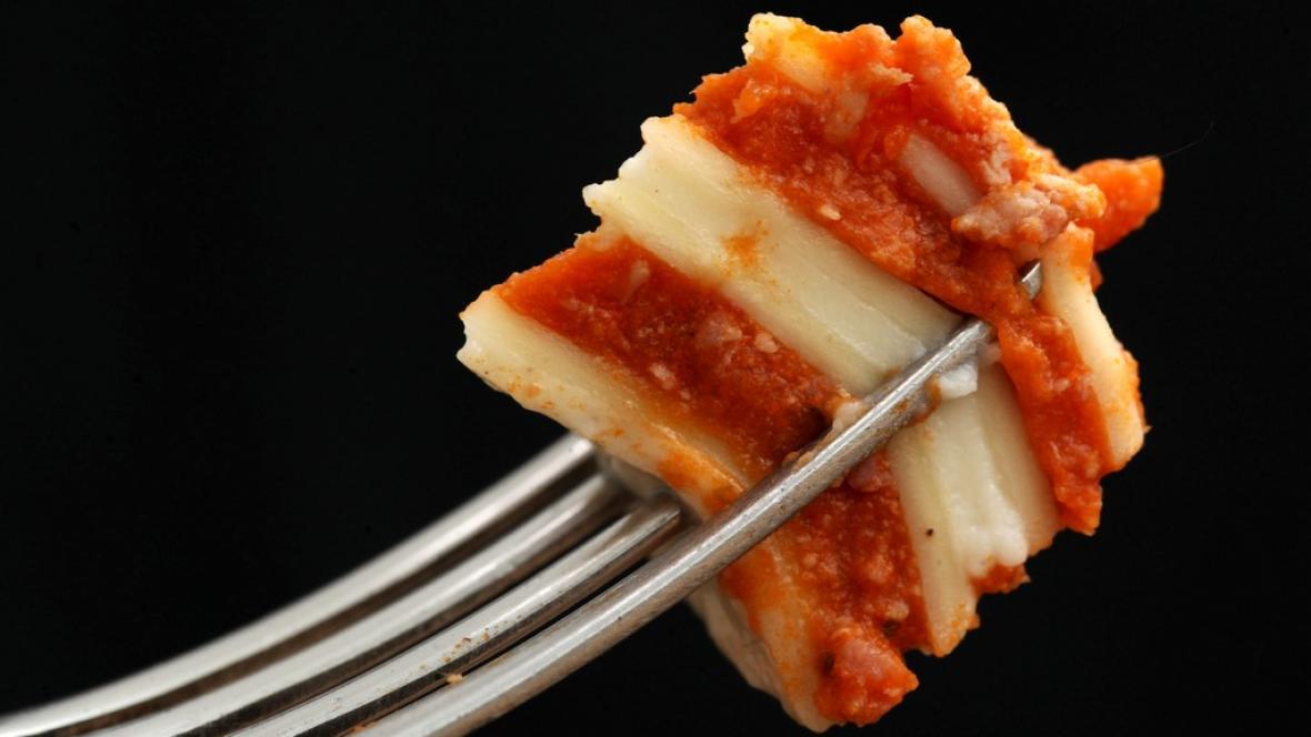 Lasagne s koninou