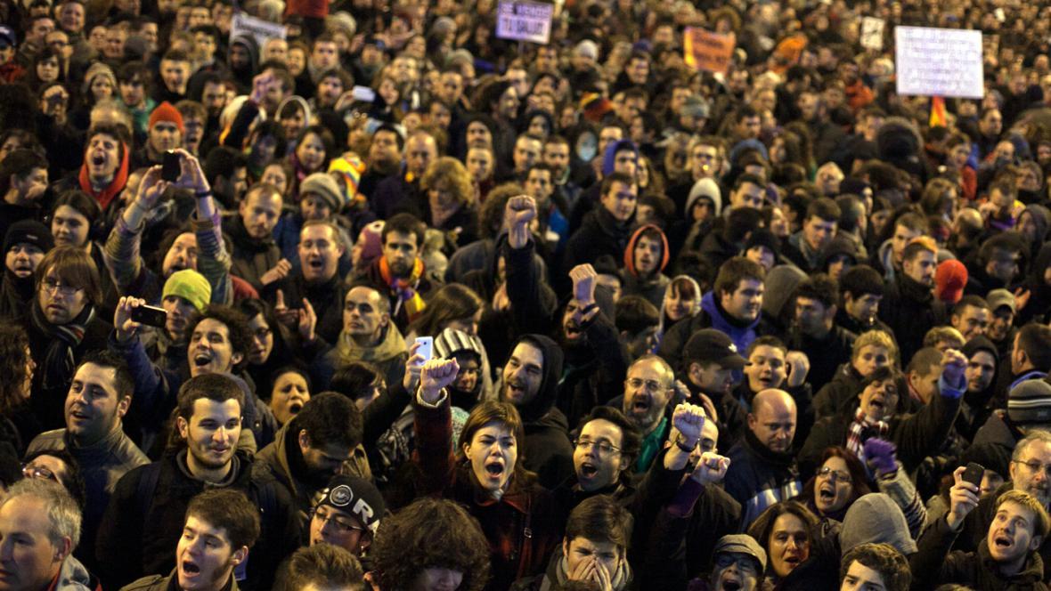 Demonstrace v Madridu