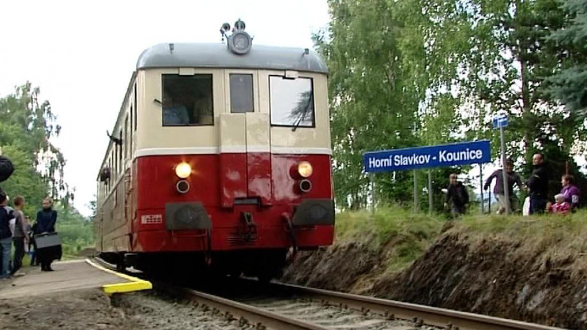 Vlak v Horním Slavkově