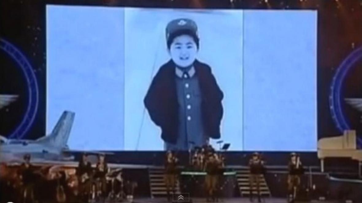 Kim Čong-un v dětství