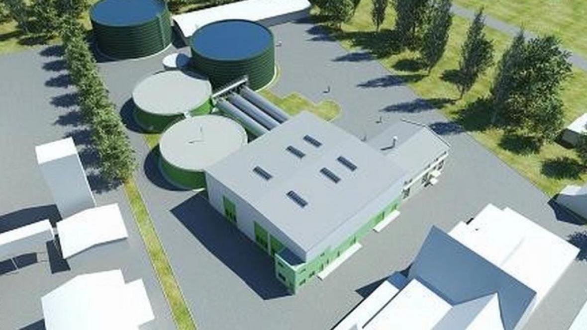 Plánovaná bioplynová stanice