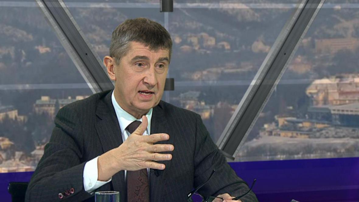 Andrej Babiš (ANO) v Otázkách Václava Moravce