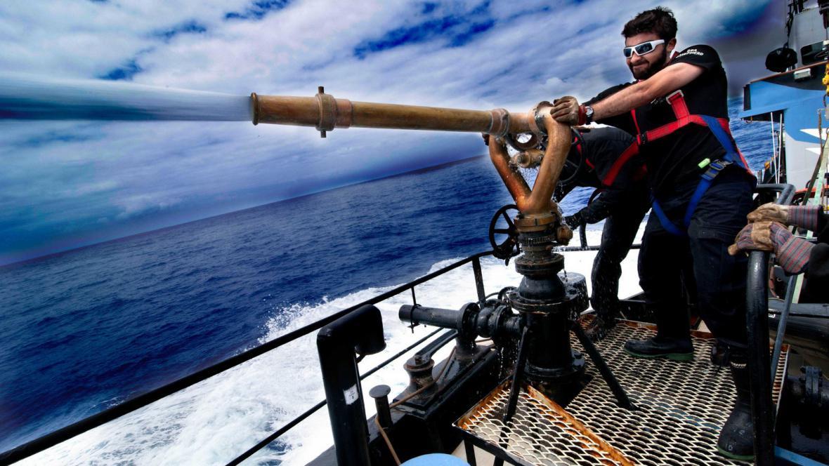 Člen organizace Sea Shepherd