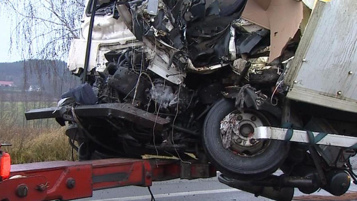 Zničený kamion