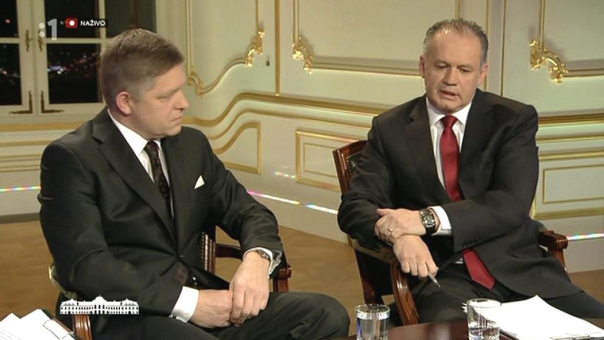 Poslední předvolební debata Roberta Fica a Andreje Kisky