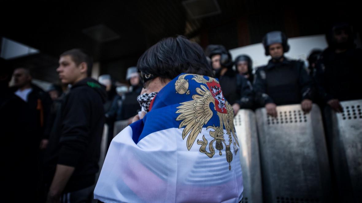 Demonstrace na podporu ruské anexe Krymu