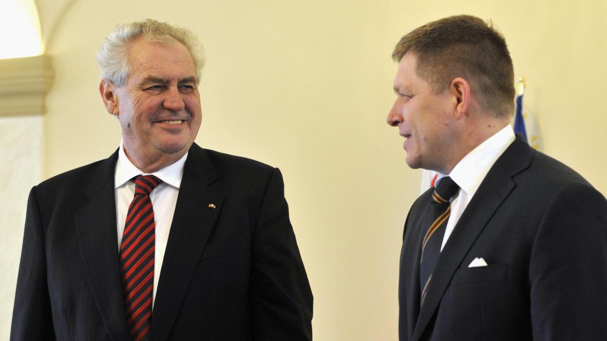 Miloš Zeman a Robert Fico
