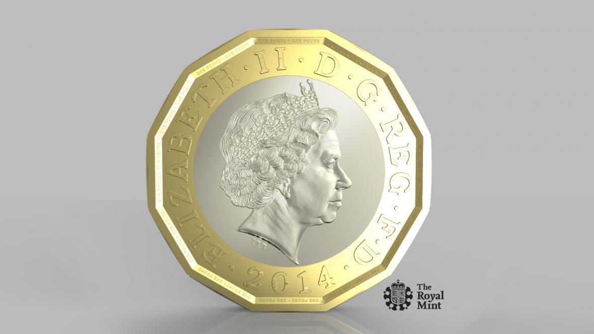 Nová jednolibrová mince