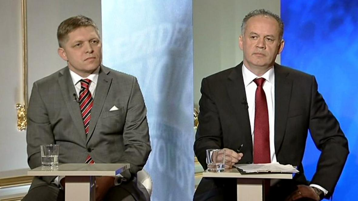 Robert Fico a Andrej Kiska