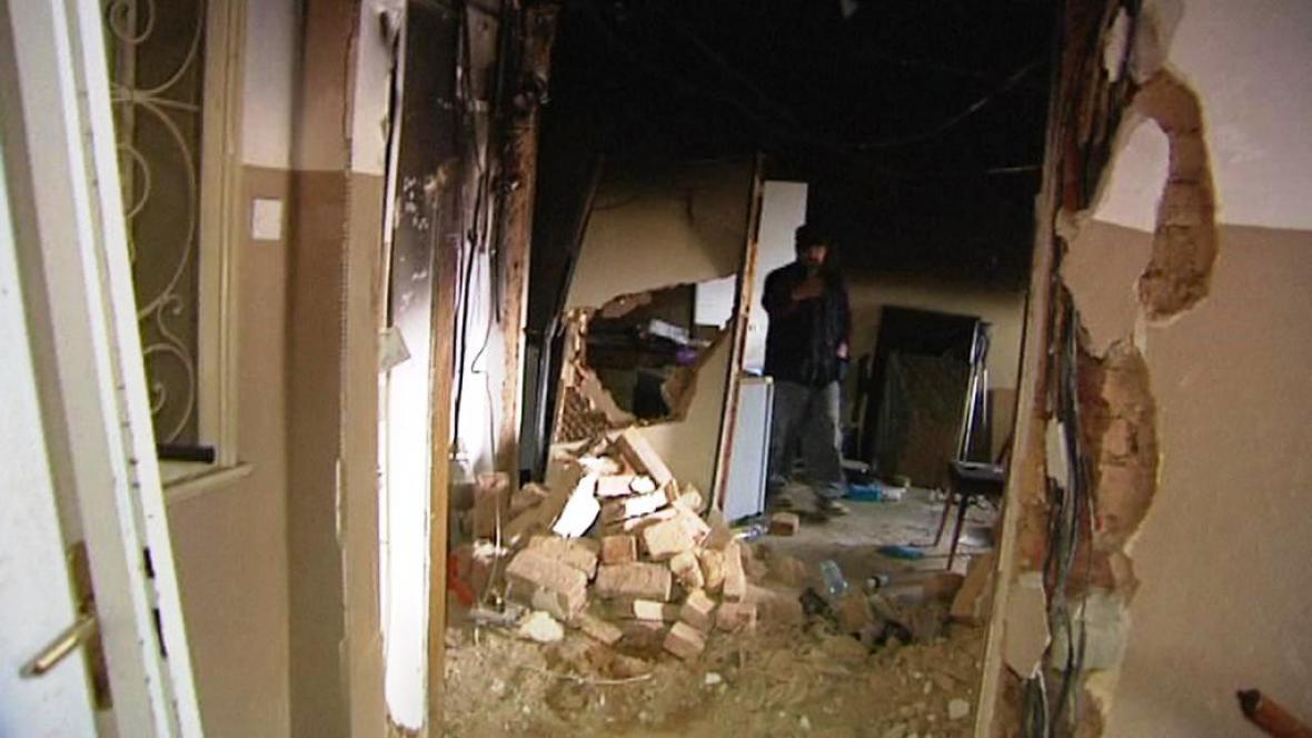 Výbuch plynu v Plzni