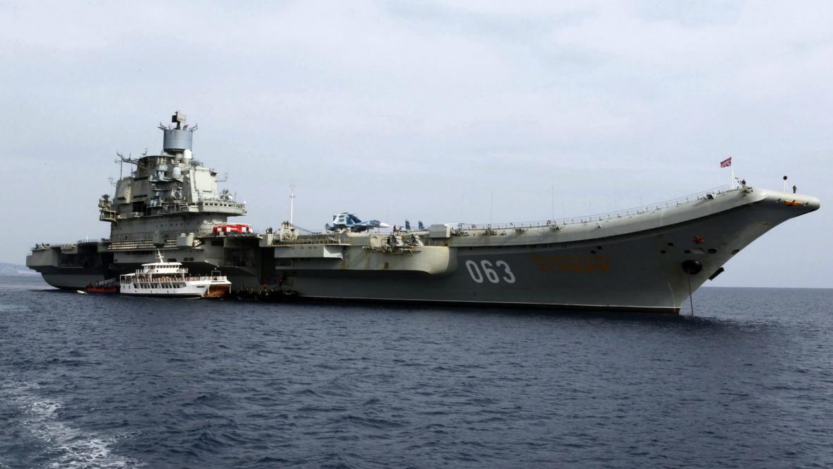 Ruská letadlová loď Admirál Kuzněcov