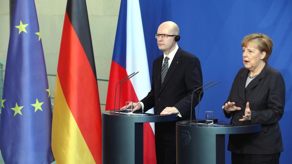 Bohuslav Sobotka s Angelou Merkelovou