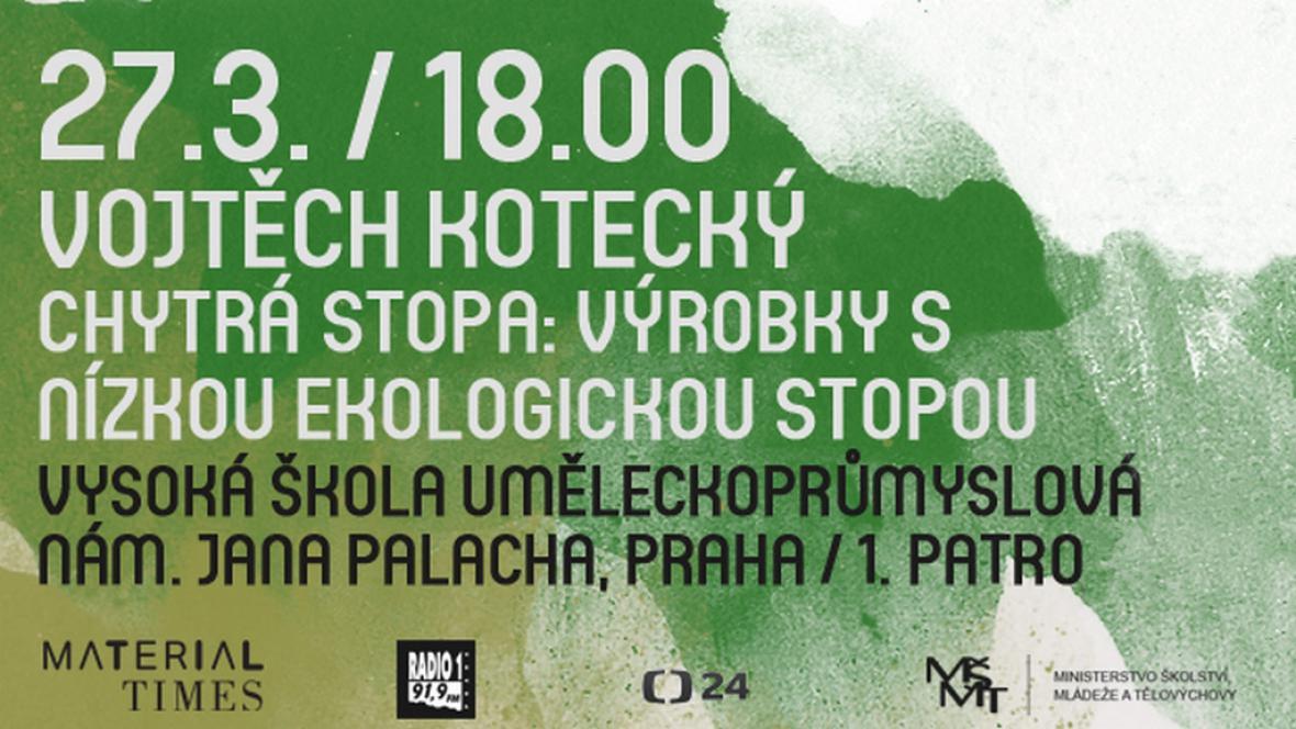 Plakát k přednášce Vojtěcha Koteckého