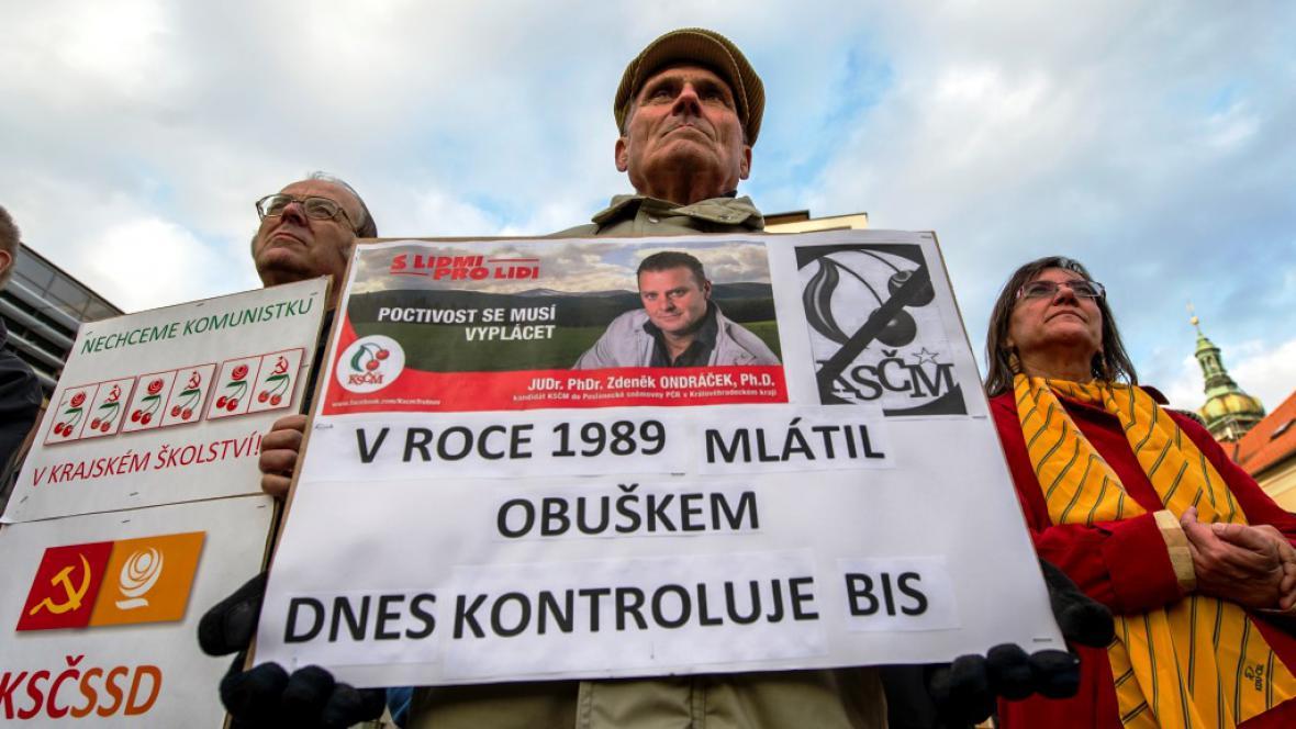 Protikomunistická demonstrace v Hradci Králové
