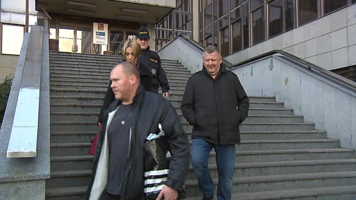 Ivo Rittig opouští budovu policejního ředitelství