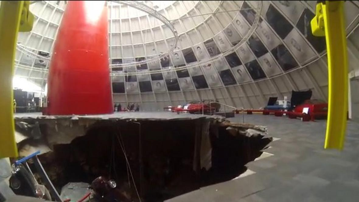 V Kentucky se propadla podlaha muzea