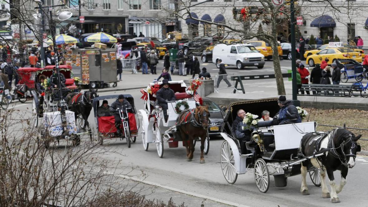 Koňské povozy v New Yorku