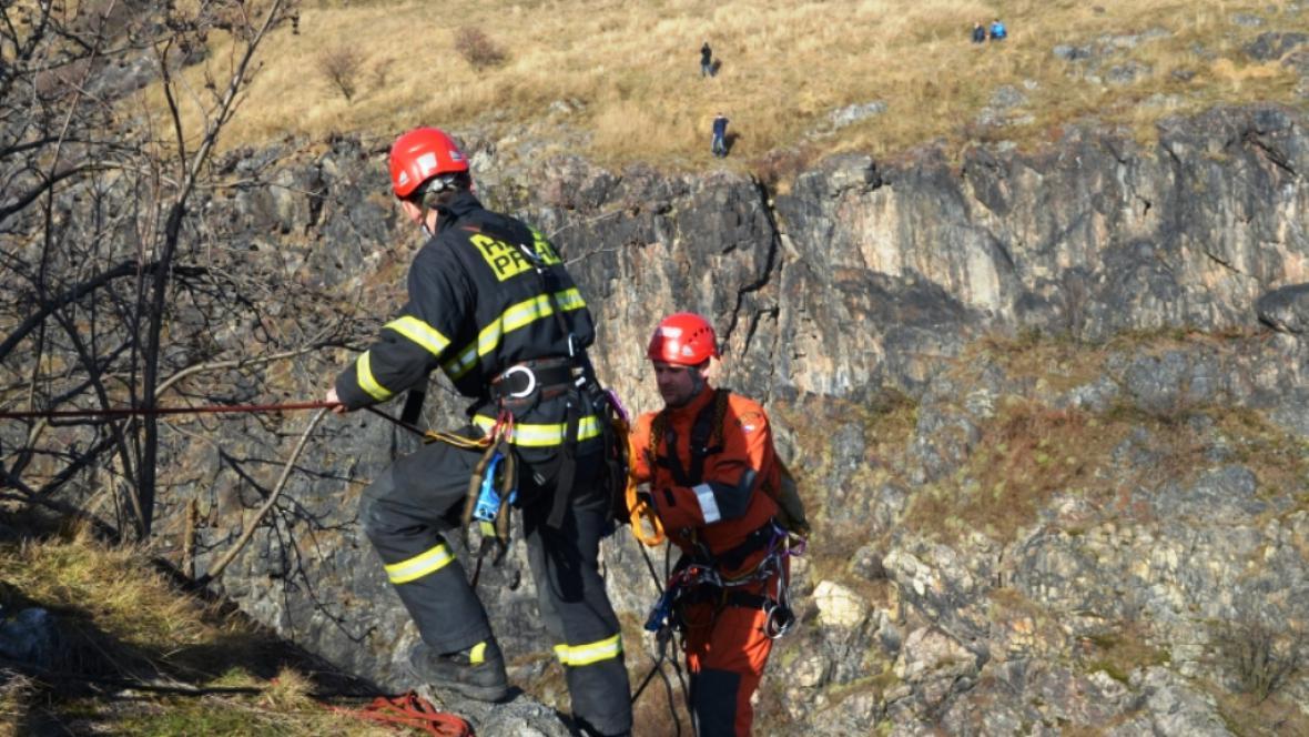 Zásah hasičů v Divoké Šárce