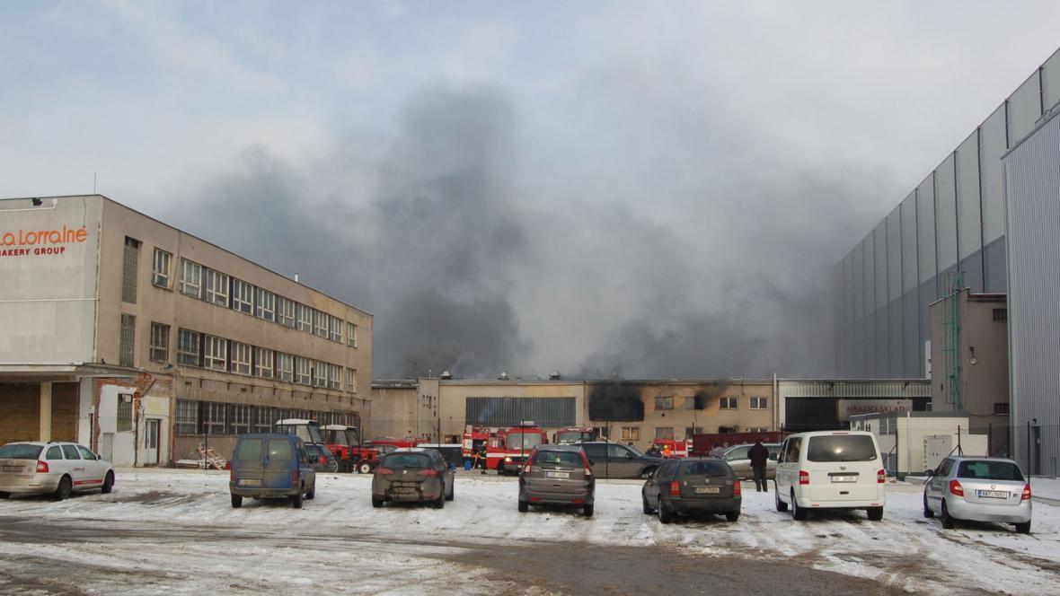 Požár pekáren na okraji Kladna