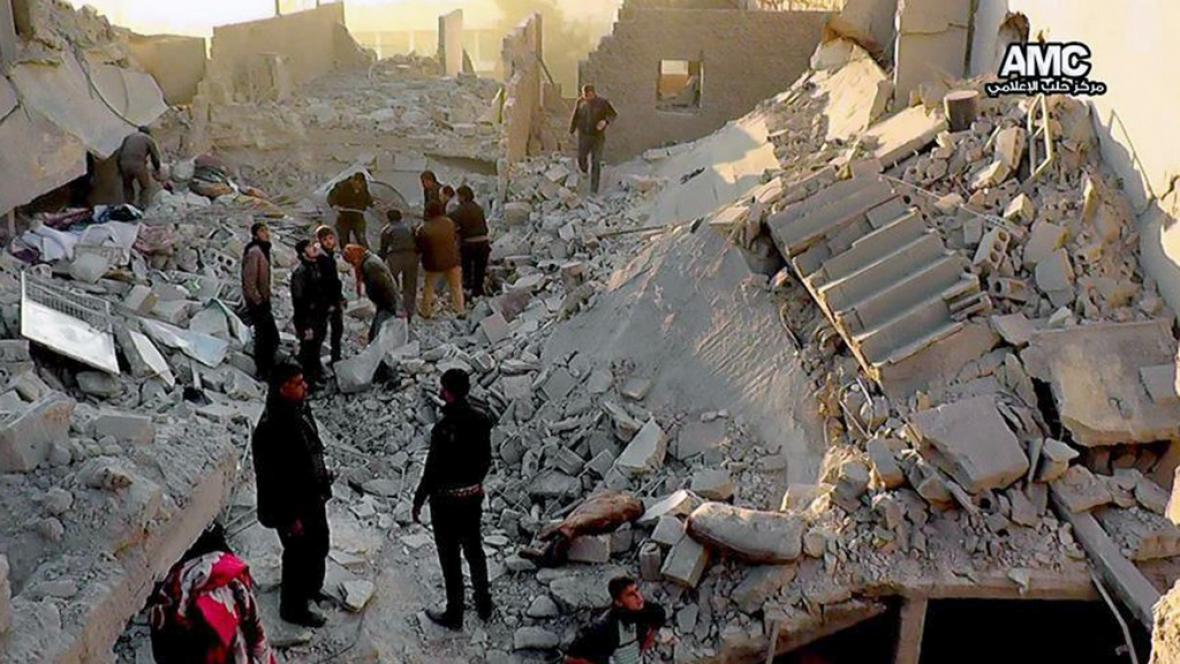Boje v syrském Aleppu