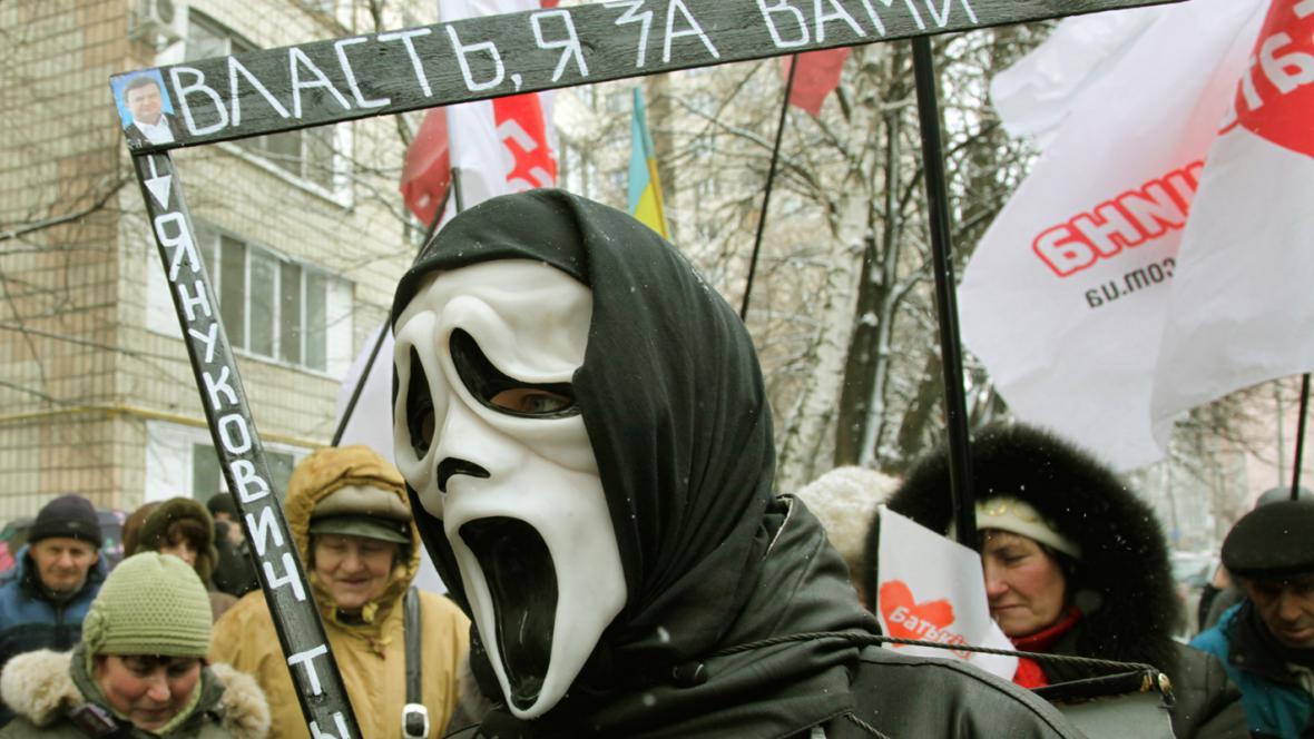 Demonstrace na podporu Jurije Lucenka