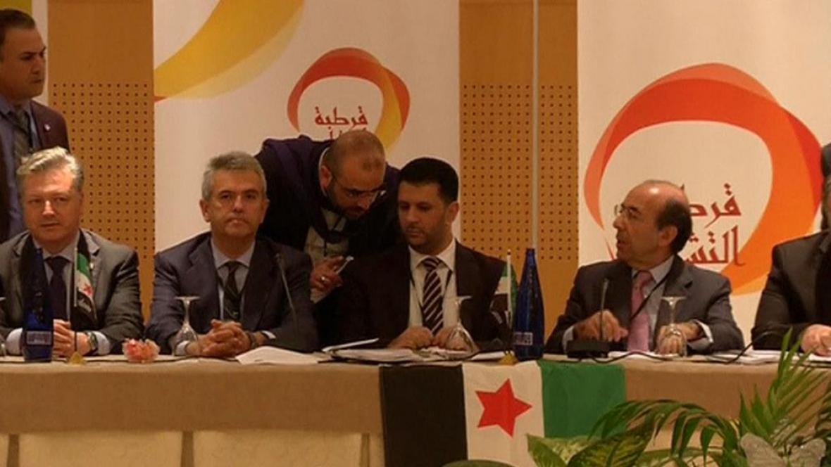 Zástupci syrské opozice na jednání ve španělské Córdobě